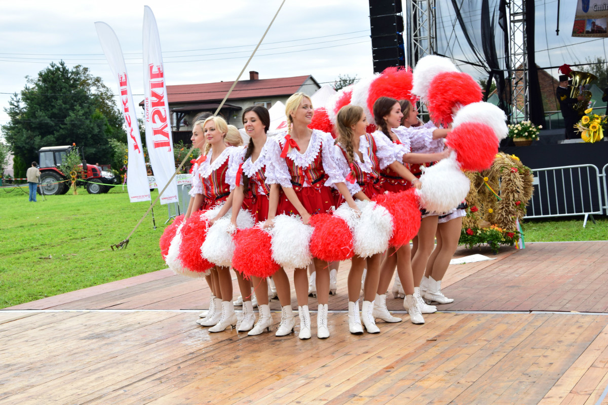 Dożynki powiatowo - gminne w Lyskach